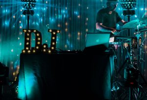 professional party DJs with sax, percussion and vocals.